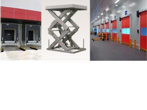 Lifting tables and docking tables and industrial doors